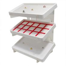 3 Tier Free Standing Acrylic Jewelry Shelf, Rings Acrylic Stand
