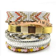 Gets.com Bracelet brésilien de mode 2015 Bracelet en or blanc avec bracelet en perles, bracelet en robes été