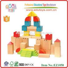 EZ1058 EN71 genehmigte kreative Buche Holz Schloss Spielzeug Holzblöcke Set