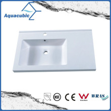 Single Bowl Rectangular Artificial Marble Sink Tops Acb0702