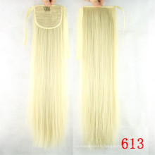 Wholesale Cheap Price Virgin Remy Human Hair Drawstring Ponytail White Women Human Hair Ponytail