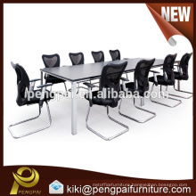 Chinese hot sale conference table with metal leg