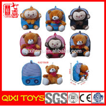 China factory school backpack plush animal backpack for kids