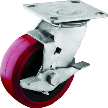 Heavy Duty Tread Brake Polyurethane Wheel Casters