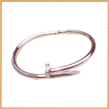 Gold yellow stainless steel nail shape bracelets bangles for ladies all over the world