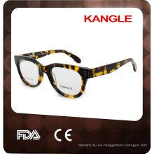 2017 gafas de acetato marco óptico de anteojos