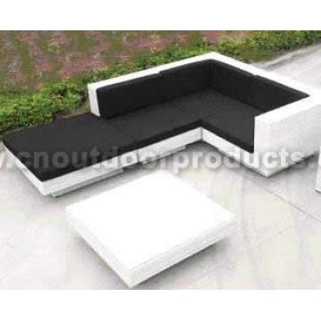 Patio mimbre sofá al aire libre