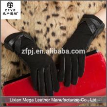 Novo design de moda de baixo preço Luvas de couro sintético