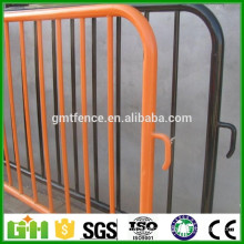 High quality detachable leg metal crowd control barriers