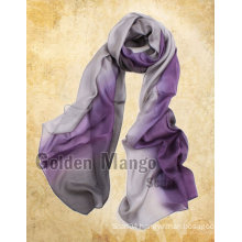 Latest Gorgeous fashion 100% silk chiffon scarf wholesale