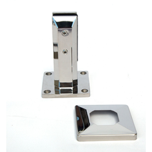 ss304 Railing fitting ss316 stainless steel spigot railing glass clamp