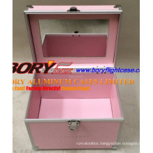 Classic Pink Hard Aluminum Nail Kit Case Cardboard