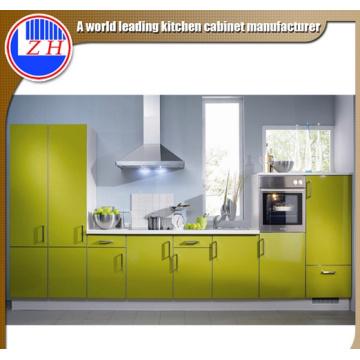 Glossy modulares Flat Fiber Móveis de cozinha com pedras de bancada