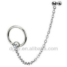 Chain linked tragus BCR Barbell ear chain
