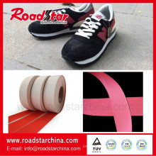 PVC backside multi colors reflective shoes material leather