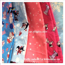 High quality pure color wholesale cotton flannel fabric/printed jacquard flannel fabric