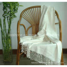 Bamboo Throw, Bamboo Blanket, Bamboo Fiber Throw Bt-F070330-Ivory