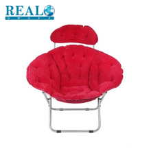 Garden fashion folding lounge metal chair comfortable lazy moon chair indoor