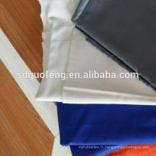 Tissu tissé simple de tissage 1/1 de tissu de popeline de spandex de coton