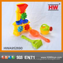 Смешные 4 PCS Пластиковые песчаные пляжные сет Детские уличные игрушки