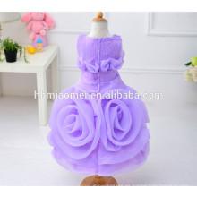 Nuevo vestido de la muchacha de flor del bebé 3D de la manera 2017 vestido colorido de la muchacha del nuevo modelo colorido de la venta para la boda y el partido