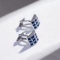 Großhandel benutzerdefinierte Geschenk Silber Edelstahl Manschettenknöpfe