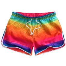 Pantalones cortos de baño para mujer que nadan pantalones cortos de playa de surf con cintura elástica