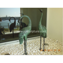 Bronze Life Size Crane Sculpture For Sale