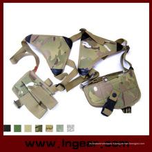 Épaule réglable de tactique militaire pistolet pistolet Holster Magazine poche avec fermeture Velcro