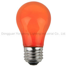 Amber Color Coating Incandescent Bulb with 10W/15W/25W/40W