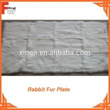 Plaque en fourrure de lapin blanc de qualité européenne