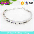 Factory Wholesale Silver Elegant Cuff Bangle #B138