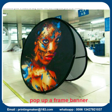 Tecido oval POP UP Display Banners with Carry Bag