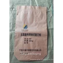 Sac en papier carré pour carbure de silicium 25kg