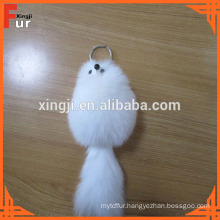 China Manufacturer Fox Fur Keychain