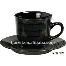 Sticker couleur brillant et brillant en céramique en grès Thé et tasse de thé à café