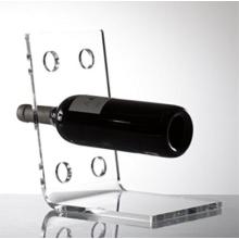 Clear Acrylic Angle 6 Bottle Wine Rack