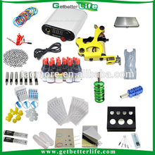 Cheap beginner permanent body tattoo kit with ink set