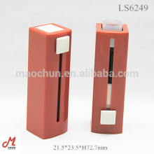 LS6074 Square lighter design push up open cosmetic lipstick packaging tube