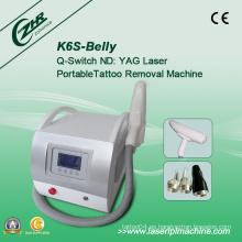 K6s eficaz Q Switch ND YAG máquina de eliminación de tatuajes láser
