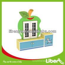 Hotsale Kindermöbel Teetasse Rack, Kinder Holzschrank in Karikatur Frucht Form LE.SJ.092