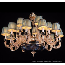 Lámpara de vela de brazo de aleación de cinc 15 luces con gotas de cristal LT-88710