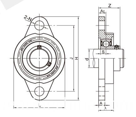 Stainless Steel Bearing Units SSKFL000 Series
