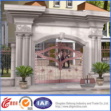 Black Powder Coated Ornamental Superior Entrance Gates