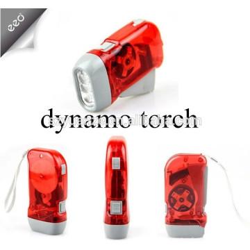 Hand press dynamo 3 led torch/rechargeable flash light/hand crank flashlight