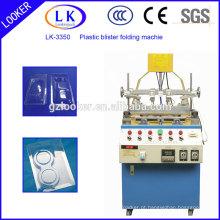 Máquina de dobrar borda plástica para clamshell plástico
