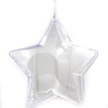 Ornamento transparente abierto de la bola de la Navidad