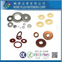 Taiwan DIN 433 ISO 7092 Nickel naturel chromé Rondelles en laiton en acier inoxydable Rondelles plates en cuivre
