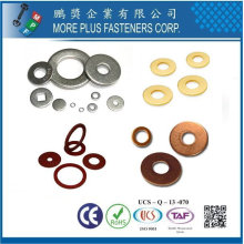 Taiwan DIN 433 ISO 7092 Natural Nickel Chrome plated Stainless Steel Brass Washers Copper Flat Washers