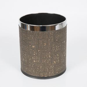 Stainless steel hotel round dustbin